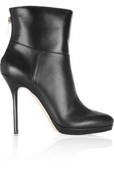 JIMMY CHOO - Alanis leather ankle boots