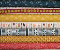 Fat Quarter Bundle of 7 from the Wild & Free by SistersandQuilters
