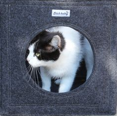 Felt Cat bed Cat house Cat cave fits into lots by technikdesigncm