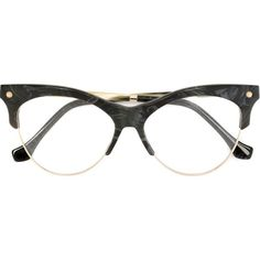 Balenciaga Eyewear marble effect glasses (480 AUD) ❤ liked on Polyvore featuring accessories, eyewear, eyeglasses, glasses, oculos, grey and marble glasses