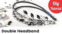 Beaded Bridal Double Hair Headband DIY Tutorial [English Subtitles] - YouTube