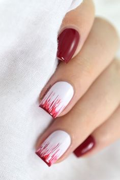 Nailstorming - French revisitée ft. Kinetics Hedonist collection [VIDEO TUTORIAL] - Dripping french manicure - halloween nails - easy nail art - dry brush - waterfall