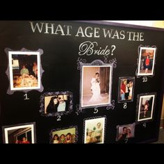 Cute set up in shower and for a prize--I have sooo many pics! Bridal Shower Game @malleriegunderson we have to do this!
