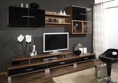 Tv Wall Unit Designs Decor Ideas 9 On Wall Design Ideas For Small Spaces Tv Stand Furniture, Kids Room Furniture, Wallpaper Furniture, Cabinet Furniture, Hd Wallpaper, Bedroom Furniture, Wall Unit Designs, Tv Unit Design, Small Space Bedroom