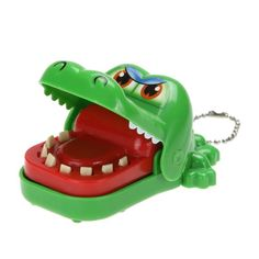 Cartoon Crocodile Dentist Bite with Keychain Mouth Finger Game Funny Toy Funny Gag Toy Novelty Toys For Kids Gift Random Color