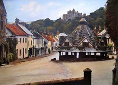 Old Villages in England | Old Photos of Dunster in Somerset in England