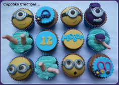 Minion and swimming cupcakes