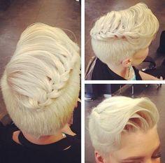 braided pixie hairstyle