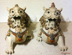 these guys have one horn each...Feng Shui Qilin Chinese Dragon Imperial Guardian Creature Ceramic ...