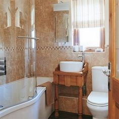 Small Bathroom Design Ideas; I Think This One Has A Glass Door (?!), But  Other Than That I Like It.