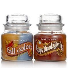 Yankee Candle Set of 2 Thanks Giving Swirls Medium Jar Candles Scented Candles, Candle Jars, Yankee Candle Set, My Yankees, Burning Candle, Holiday Traditions, Seasonal Decor, Swirls, Body Care