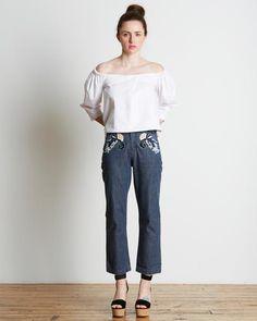 Rachel Comey Slim Bishop Pant in Ash Denim