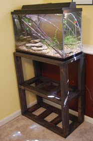 Aquascaping Art: DIY Aquarium Stand Plans – Only do 1 level and make it fit arou… Aquascaping Art: DIY Aquarium Stand Plans – Only do 1 level and make it fit around the dog crate – tads cage on top Diy Aquarium Stand, Home Aquarium, Aquarium Fish, Aqua Aquarium, Aquarium Design, Cool Diy, Fish Tank Stand, Living Room Ornaments, Interior Room Decoration