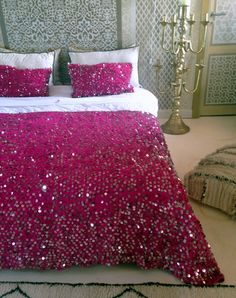 MMontague pink Moroccan wedding blanket, handira.JPG