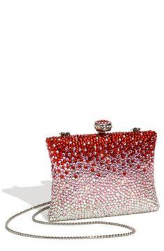 Bolso de fiesta con brillantes blancos y rojos