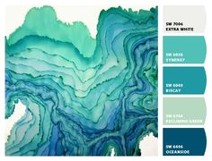 Paint colors from Chip It! by Sherwin-Williams ... greens & blues