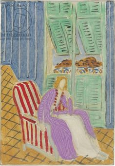 Matisse, Henri (1869-1954) The Purple Dress, 1942 (oil on canvas)