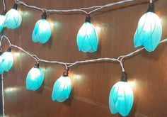 tulip blue cute nice string lights  20 flowers gift by candoall