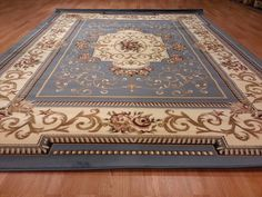 5x8 classic french aubusson traditional medallion blue rug d616 turkish - 5x7 Area Rugs