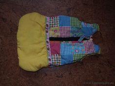 Ein Puppenschlafsack nach dem Schnittmuster vom Wollyonline Blog