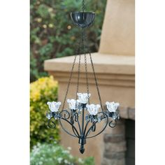 26 in. Kami LED Outdoor Chandelier - Black at the Foundary