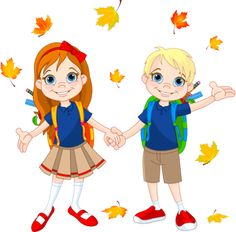 Boy And Girl Ready To School Royalty Free Stock Photo - Image . First Day Of School, Back To School, Preschool Open Houses, School Painting, School Clipart, Petite Section, Autumn Activities, Classroom Decor, Boy Or Girl