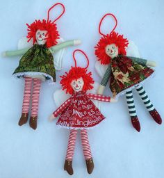 Easy and quick to make!  Raggedy Angel - Cloth Doll Pattern. $6.50, via Etsy.