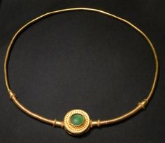 Vandal gold and glass necklace. From the Czéke burial site, c.300 AD or early 4th century. Kunsthistorisches Museum, Vienna