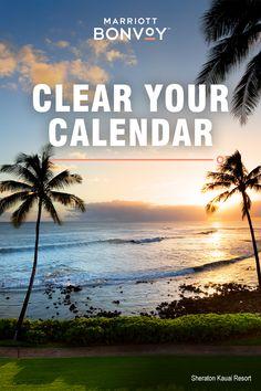Book Resort Deals from Marriott International at resort destinations in Hawaii. Hawaii Resorts, Hawaii Vacation, Hawaii Travel, Hawaii Trips, Hawaii 2017, Vacation Deals, Vacation Spots, Moana Surfrider, Destin Beach