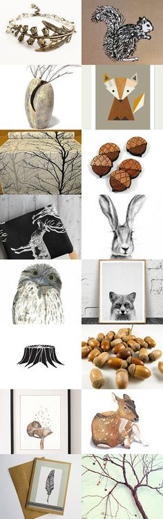 Woodland in Neutrals by Cathy on Etsy--Pinned+with+TreasuryPin.com