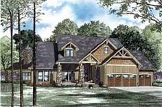 Country Style House Plans - 3345 Square Foot Home, 2 Story, 4 Bedroom and 3 3 Bath, 3 Garage Stalls by Monster House Plans - Plan 12-1172