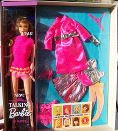 RARE 1968 Barbie Silver N Satin Gift Set 1552 JC Penney with Talking Doll
