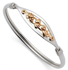 Clogau Bangle Tree Of Life Silver & Rose Gold | C W Sellors Fine Jewellery and Luxury Watches