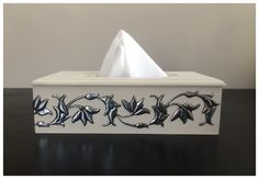 Another tissue box by Belinda, made at Pewter Me Blue… Wooden Box Plans, Wooden Boxes, Pewter Art, Pewter Metal, Tissue Box Holder, Tissue Boxes, Wooden Crafts, Metal Crafts, Aluminum Foil Art