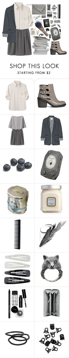 """"""".."""" by zyzabella ❤ liked on Polyvore featuring rag & bone, ASOS, Uniqlo, Steven Alan, Passport, Fresh, Laura Mercier, BOBBY, GHD and Justine Brooks"""