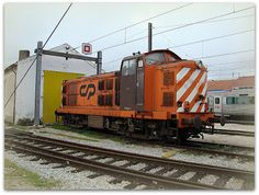 Estación de Vilar Formoso. REFER.  Locomotora diesel CP 1400.