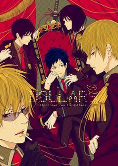 DURARARA!! Shizuo, Izaya, Mikado, Anri, Kida