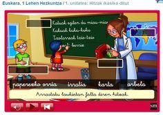 GELA PDI: EUSKARA 1. ZIKLOA. SM PUPI (6-8 urte) Arcade Games, Family Guy, Guys, Fictional Characters, Montessori, United States, Languages, Boyfriends