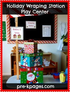 Free printable Elf of the Day sign for the holiday dramatic play center in your preschool, pre-k, or kindergarten classroom.