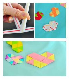 Make woven hearts out of straws or paper and use them to embellish cards, or use the as cards themselves. Check out this video tutorial. Valentine Day Crafts, Holiday Crafts, Fun Crafts, Diy And Crafts, Arts And Crafts, Paper Crafts, Straw Crafts, Valentine Decorations, Origami
