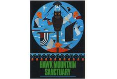 Hawk Mountain Sanctuary Poster • The Charley Harper Gallery
