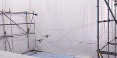 Gif - Dois drones construindo uma ponte. Futuro? #Drones #Tecnologia #Construção #Futuro #Pinterest