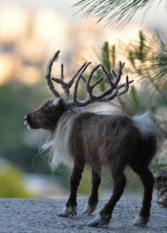 Needle felted animals. Needle Felted Reindeer. от darialvovsky