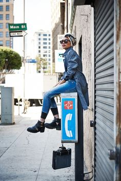 Yuna Zarai para G-Star Photo By: Dominic Cooley
