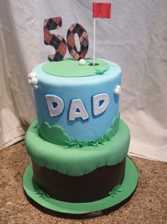 Golf themed birthday cake |  Mick's Sweets -  Flickr - Photo Sharing!
