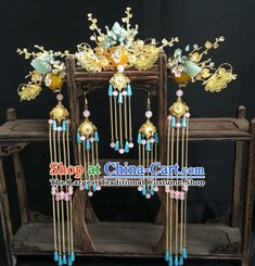 Top Grade Chinese Ancient Queen Hair Comb Hairpins Traditional Hair Accessories Headdress for Women Hair Accessories For Women, Wedding Hair Accessories, Hair Jewelry, Jewlery, Gem Hair, Chinese Hair, Japanese Jewelry, Tanzanite Earrings, Bride Earrings