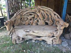 Gartenbänke - Bank Teak Holz Garten Wohnzimmer Sitzbank Holzbank - ein Designerstück von TAR-SHOP bei DaWanda