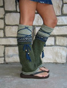 Tribal Flair' Leg Warmers Hippie Clothing Boho by MyMetamorphous, $30.00