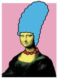 Nick Walker - Mona Simpson Signed Print / Screenprint Mona Lisa Marge Simpson The Simpsons Le Sourire De Mona Lisa, Roman Photo, Nick Walker, La Madone, Mona Lisa Parody, Mona Lisa Smile, Italian Artist, Banksy, Art Plastique