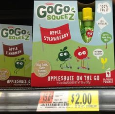 Walmart: Go Go SqueeZ 4 pack only $1.25  New Coupon!  ( FREE Singles At Target)